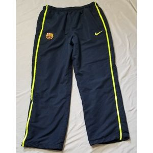 Nike warm up track FCB soccer mesh lined pants